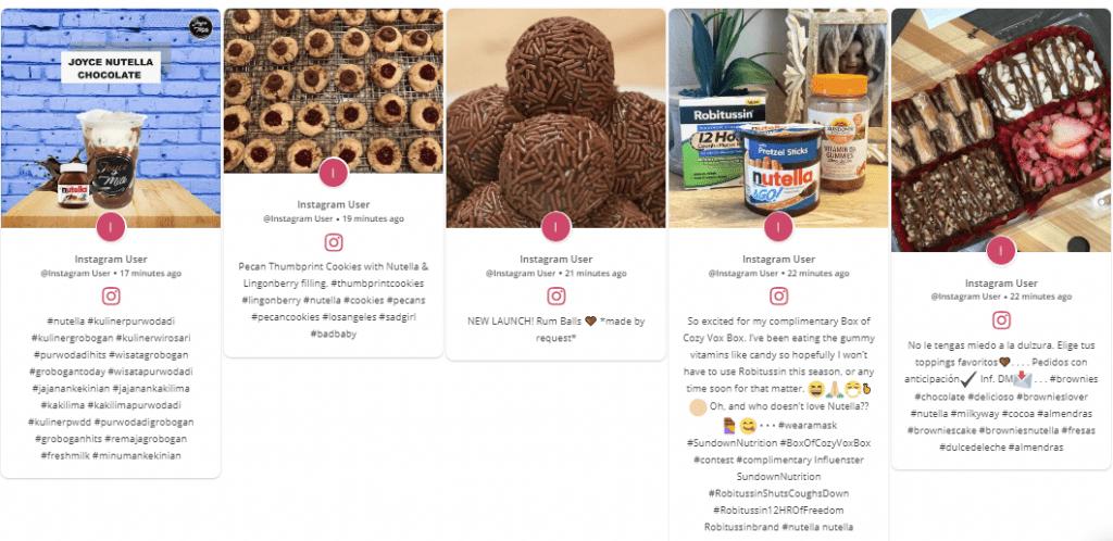 Instagram Feeds embedded on a website.