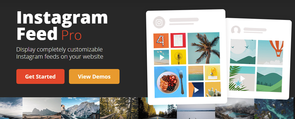 Instagram Widget for wordpress websites by Smash balloon